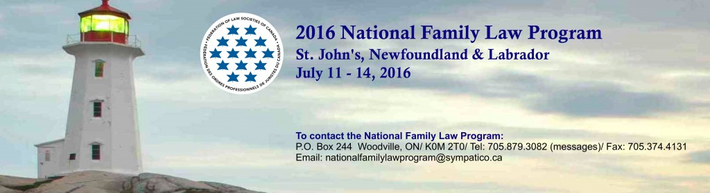 Family Law Banner Dates